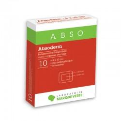 Pansements adhésifs stériles avec compresse centrale Absoderm 10 sachets individuels