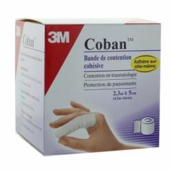 3M COBAN Bande de contension Cohésive Blanc 5cm X 2.3m