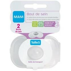 MAM 2 Bouts de sein Silicone Taille M