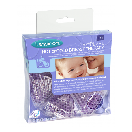 Lansinoh Coussinets Apaisants Therapearl Chaud ou Froid x 2