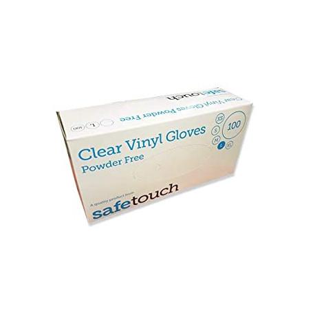 SAFETOUCH  gants vinyles sans poudre boite de 100 taille M