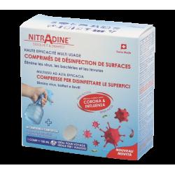 NITRADINE Désinfectants pour surfaces 20 comprimés