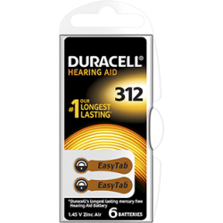 piles auditives duracell 312