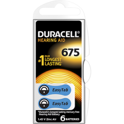piles auditives duracell 675