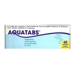 Aquatabs purification de l/'eau 60 comprimés