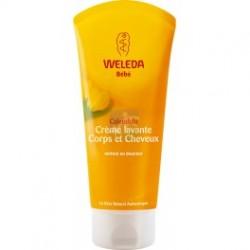 WELEDA Bébé Crème Lavante cheveux et Corps au Calendula Tube 200 ml