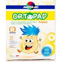 ORTOPAD HAPPY REGULAR 20 pansements d'occlusion oculaire