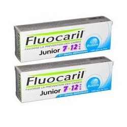 FLUOCARIL JUNIOR 7/12 ans Gel Bubble Lot de 2